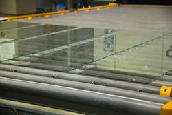 Glass factory. Glass Panels for PVC Windows and Doors Manufacturing, tempered float glass panels