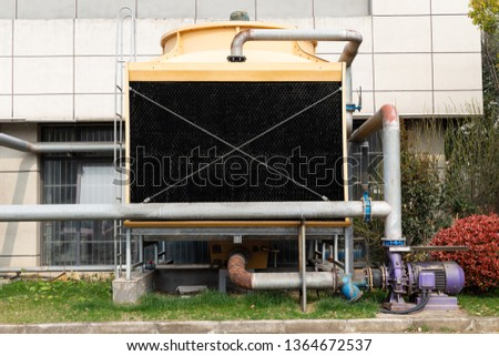 Glass fiber cooling tower, cooling tower of large air conditioner #1364672537