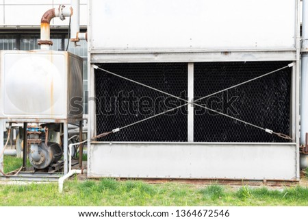 Glass fiber cooling tower, cooling tower of large air conditioner