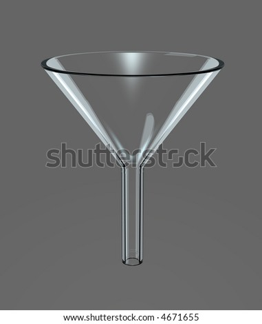 Glass Filter Funnel on neutral background