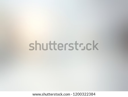 Glass flare background. Light blurred pattern. White grey brilliance defocus texture. Winter natural glow abstract illustration.