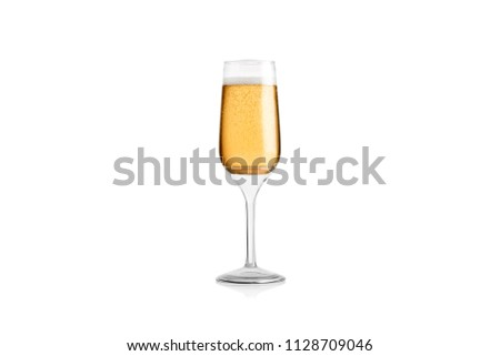 Glass Flute against isolated background   #1128709046
