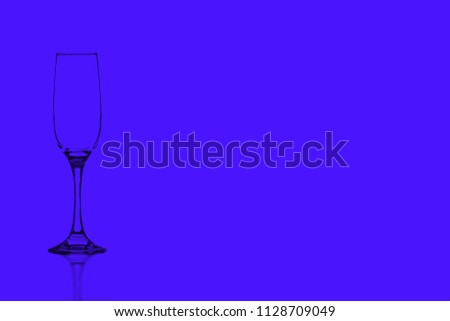 Glass Flute against isolated background   #1128709049