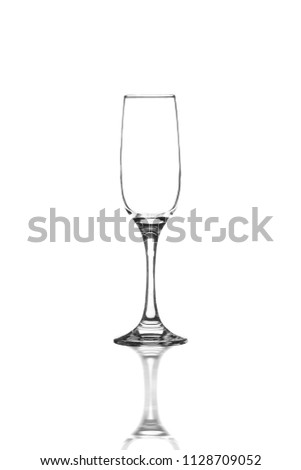 Glass Flute against isolated background   #1128709052