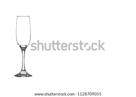 Glass Flute against isolated background   #1128709055