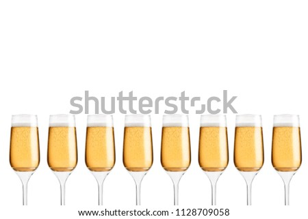 Glass Flute against isolated background   #1128709058