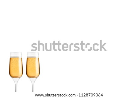 Glass Flute against isolated background   #1128709064