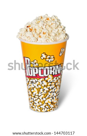 glass full with popcorn of corn