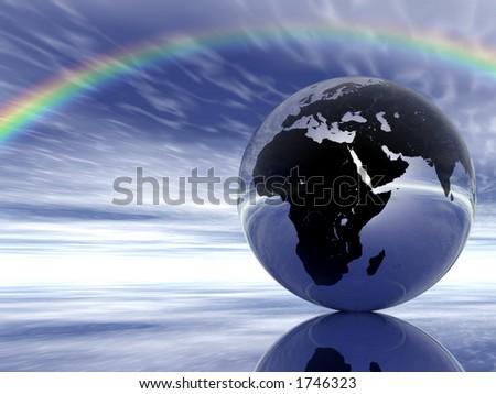 Glass Globe and Rainbow