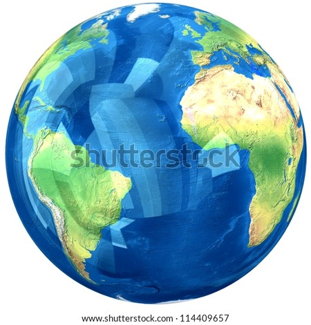 Glass globe. Elements of this image furnished by NASA