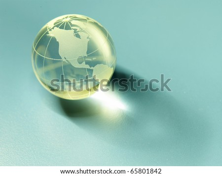 Glass globe isolated on the background.
