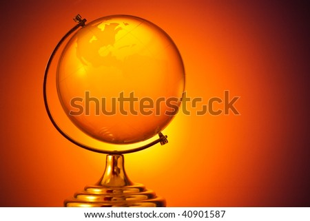 glass globe with copy space