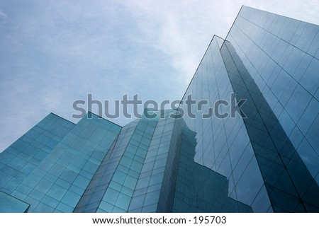Glass High rise office building