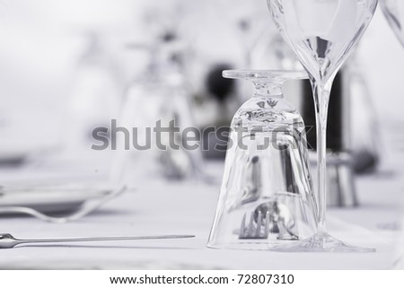 Glass in a table setting