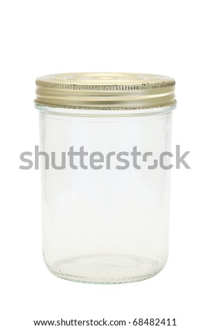 Glass jar - stock photo