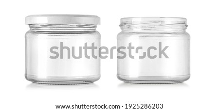 Glass jar isolated on white  background with clipping path Foto stock ©