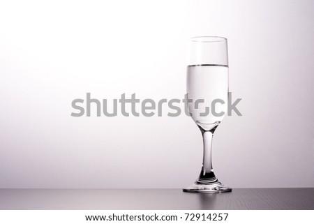Glass minimal style silhouette.