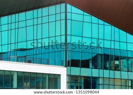 Glass modern building in Gdansk, Poland #1351098044