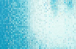 Glass mosaic in the bathroom.
