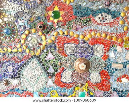Glass mosaics seamless,mosaics background,texture mosaics #1009060639