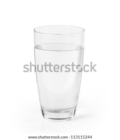 Glass of a water