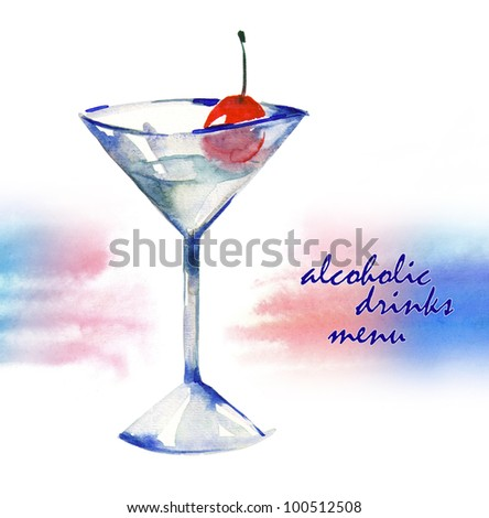 Glass of Alcoholic Drink