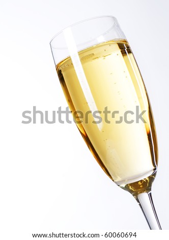 Glass of Champagne closeup