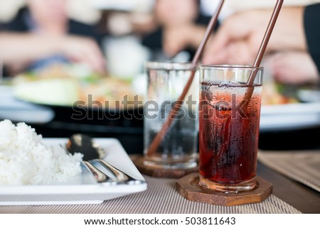 Shutterstock Glass of cold roselle juice on table food