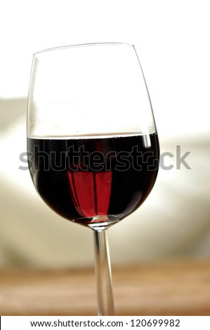 Glass of fine italian red wine, selective focus