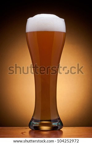 glass of fresh draft beer