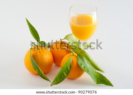 glass of juice and fruit