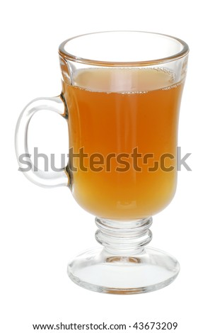 Glass Of Mulled Apple Cider