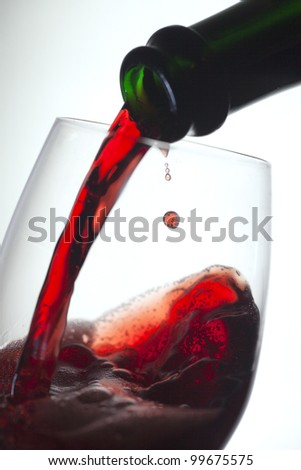 Glass of red wine. - stock photo
