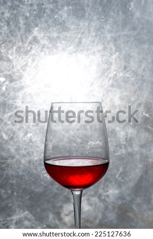 glass of red wine, studio shot #225127636