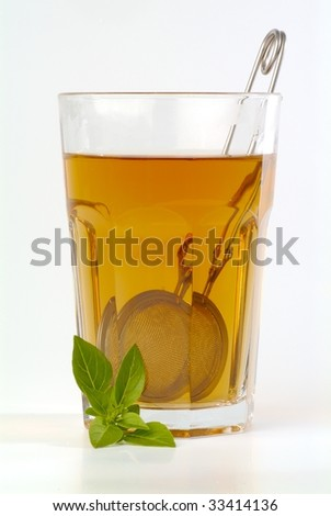 Glass of tea - stock photo