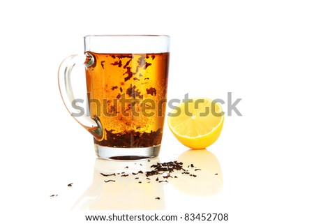 Glass of Tea and Lemon