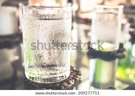 Glass of very cold water #209277751