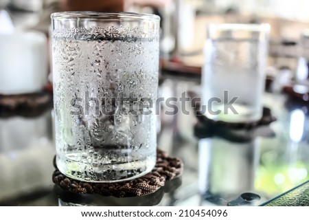 Glass of very cold water #210454096