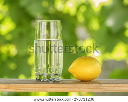 Glass of water and lemon