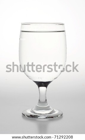 Glass of Water isolated in white