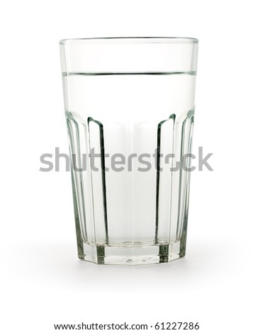 Glass of water Path included