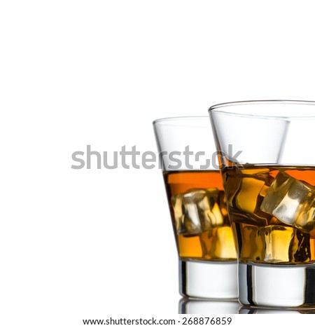 Glass of whiskey solated on white background #268876859