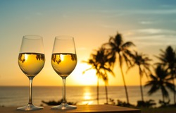 Glass of wine and a beautiful view.