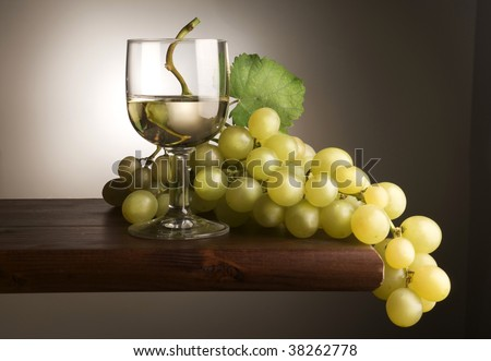 glass of wine with grape #38262778