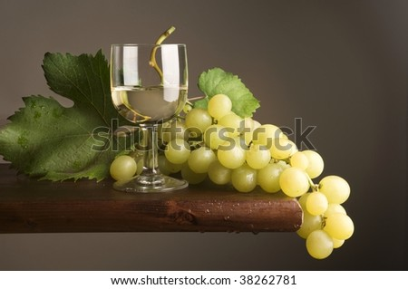 glass of wine with grape #38262781