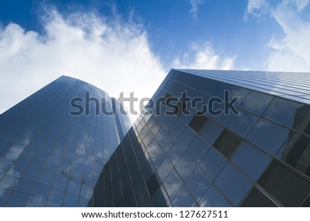 Glass office bank business building tower