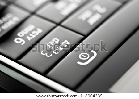 Glass phone button close up