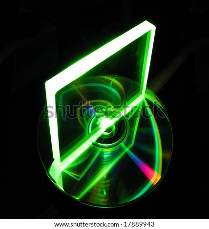 glass plate on a CD