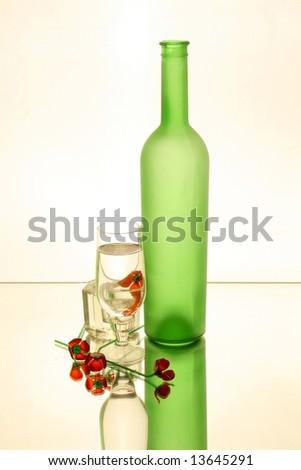 Glass; red; Green; wine glass; Bottle;Green; transparent