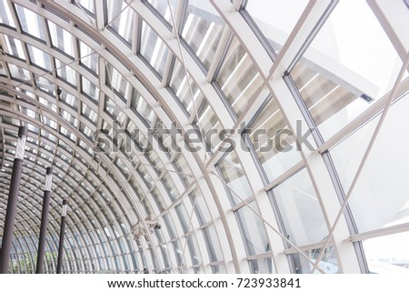Glass roof dome provides light through, heat dissipation. #723933841